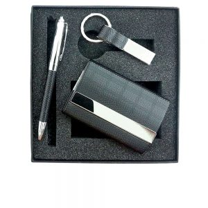 CGS 001 gift set card holder, key chain and pen