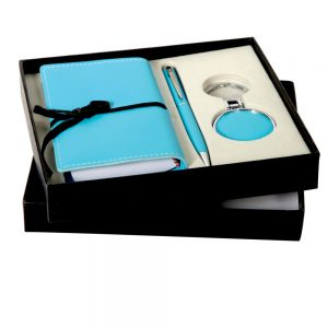 CGS 002 gift set notepad, pen and key chain