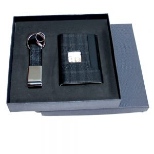 CGS 004 gift set card holder, key chain materialpu leather