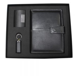 CGS 006 gift set card holder organizer & USB 4gb materialpu leather
