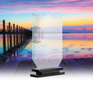 CT 010 crystal trophy Size H 25 X 17 cm